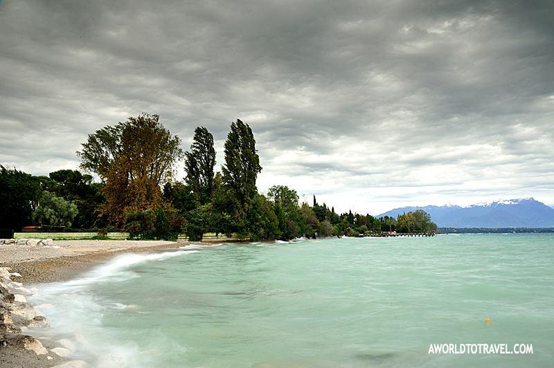 windswept lake garda shore