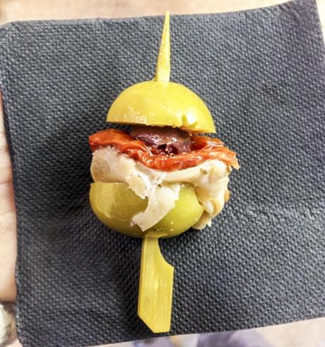 olive skewer barcelona