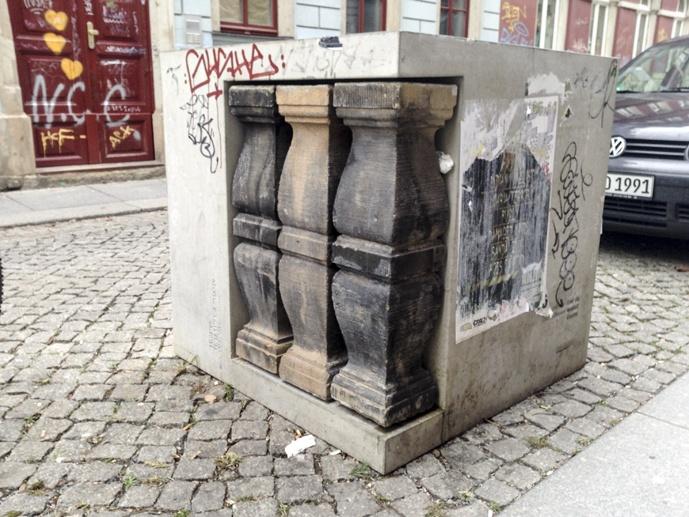 Dresden Germany concrete columns