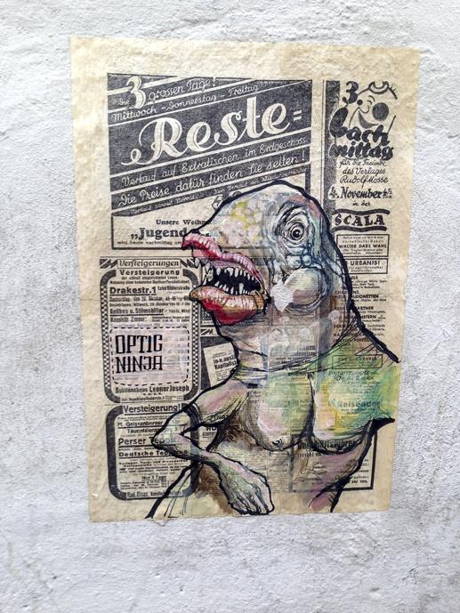 Dresden street art fish
