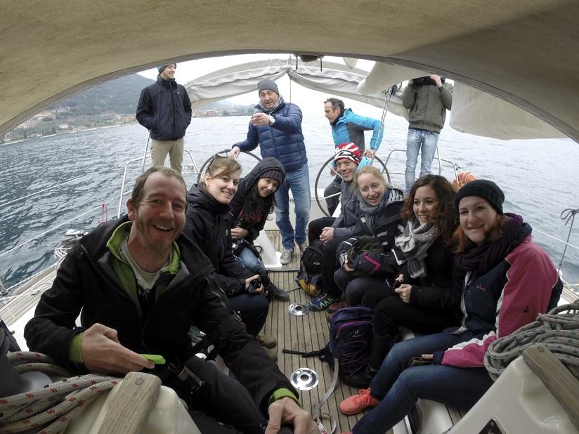 lake garda sailing selfie