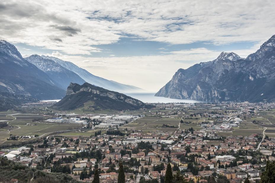 view from monte colodri lake garda