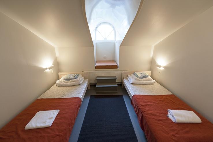 The rooms at Suomenlinna Hostel