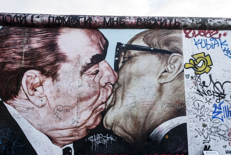 east side gallery gorbachev kiss
