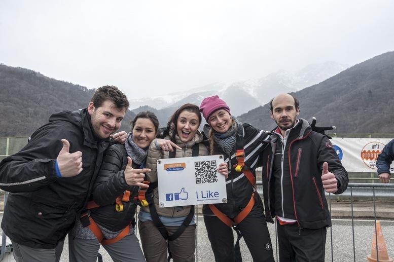 bungee jumping veglio mosso team