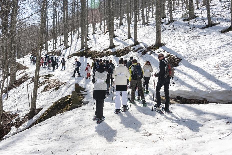 ciasposlata snowshoe walking