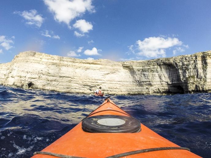 gozo adventures kayaking cliffs