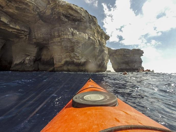 gozo adventures kayaking Azure Window