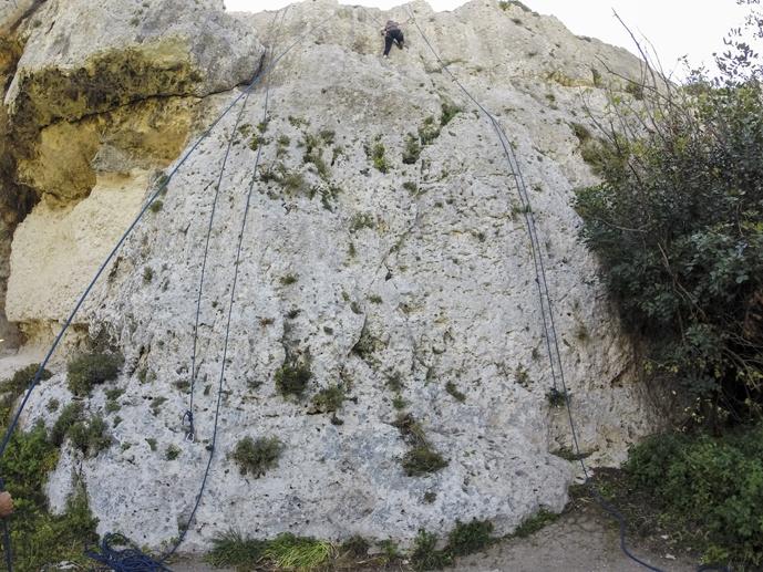 climbing flake out walls gozo
