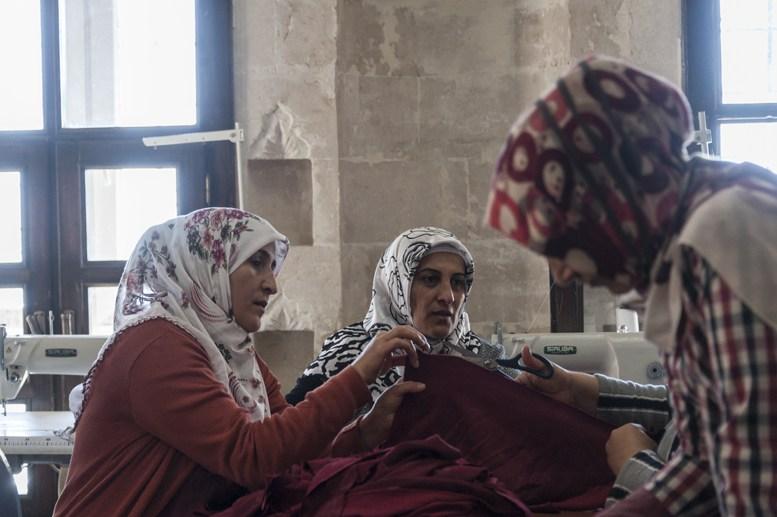 turkish women sewing