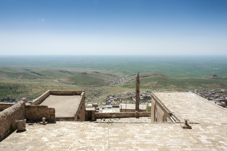 view from rooftops mardin