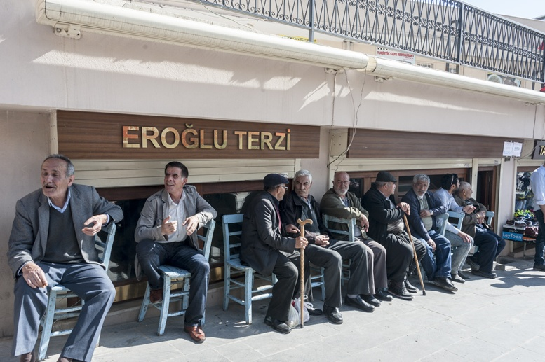 turkey old men sitting