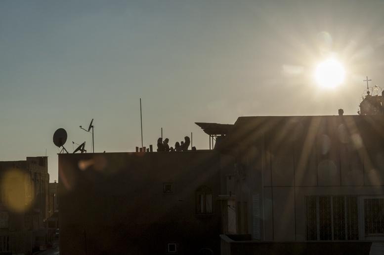turkey rooftop sunset