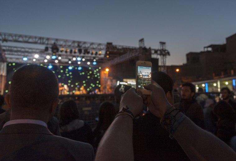 phone concert night