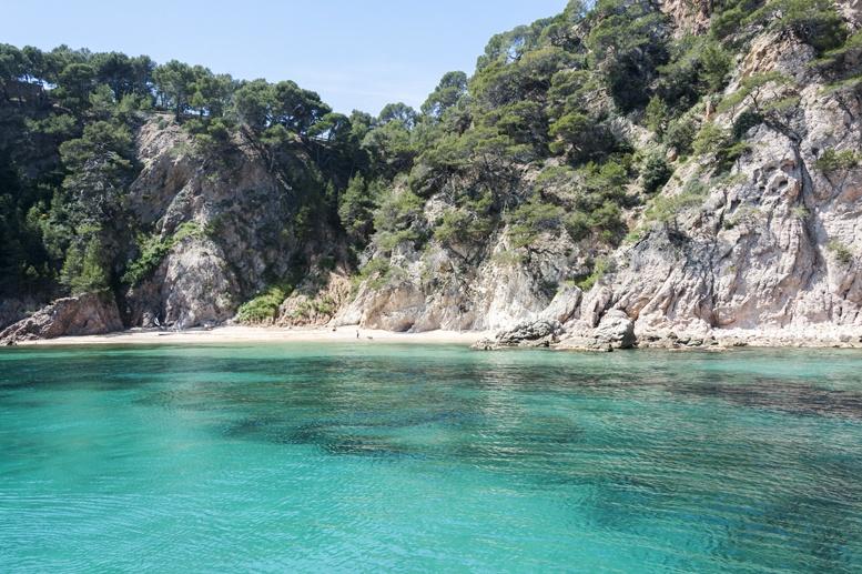 costa brava beach turquoise sea