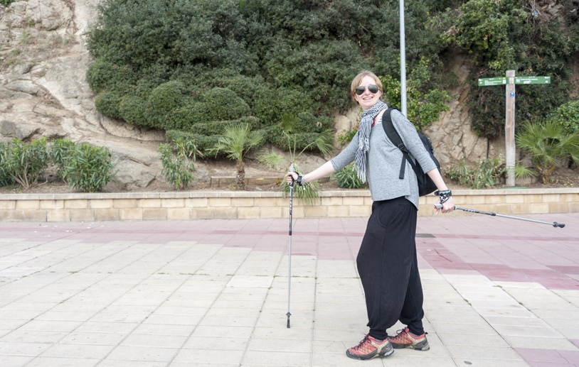 nordic walking costa brava