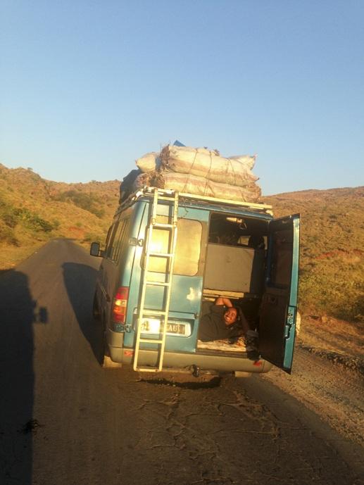 madagascar bus on road