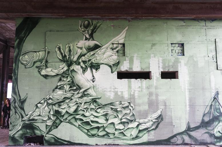 green street art teufelsberg