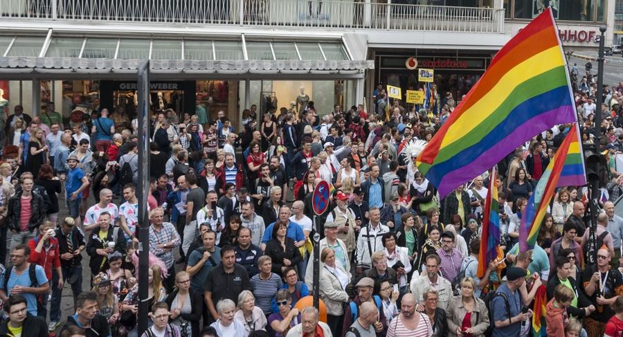 Pride Berlin rainbow flag