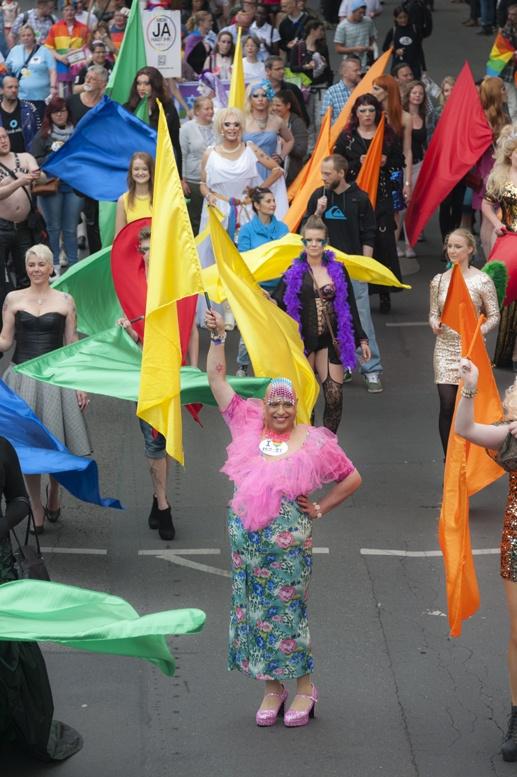 Berlin Pride from float