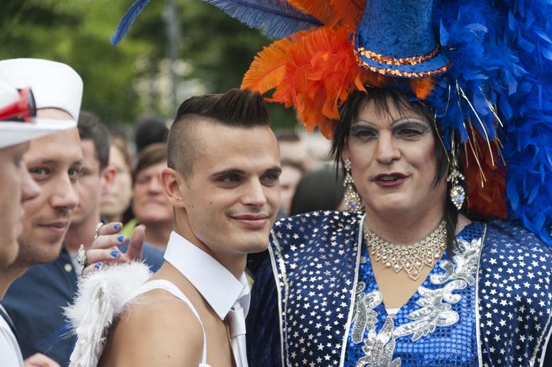 Berlin CSD drag queen and boy