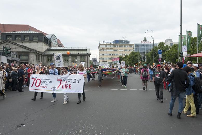 Berlin gay pride homophobic countries
