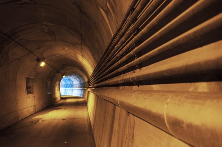 ridracoli diga tunnel