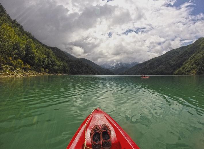 ridracoli diga kayaking