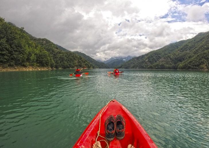 ridracoli dam kayaking
