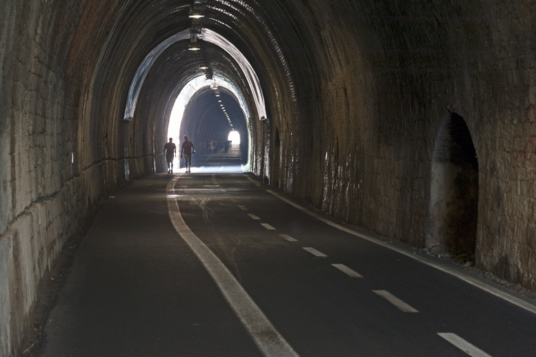 dark railway tunnel framura