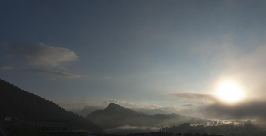 alpe di siusi sunrise mist