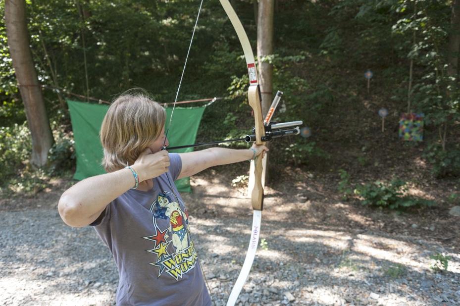 Archery lessons at Bozenov!