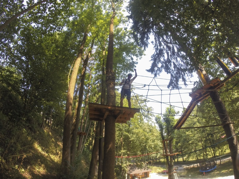 adrenaline park obstacle course rope