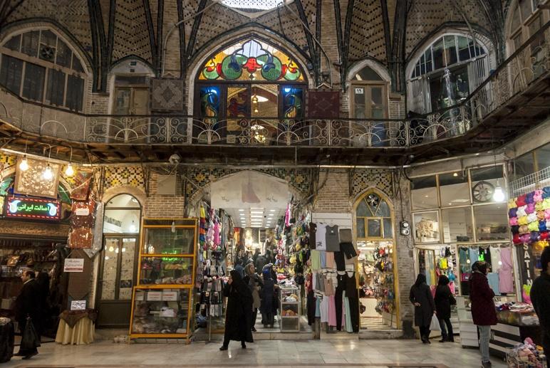 tehran bazaar inside