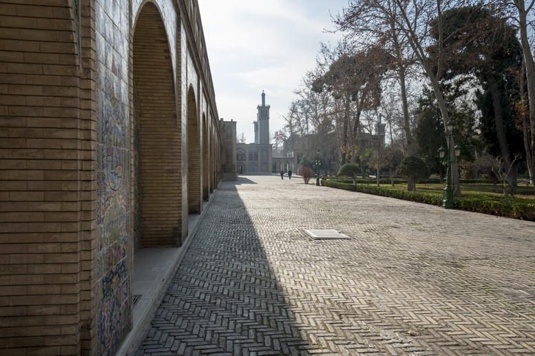 tehran gollestan palace outside street