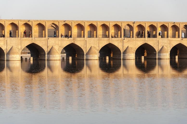 visit iran isfahan siosepol bridge
