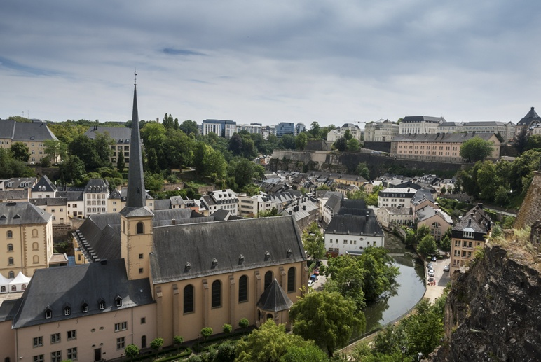 luxembourg city panorama from fortress