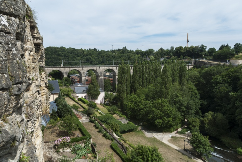 luxembourg city fortress view