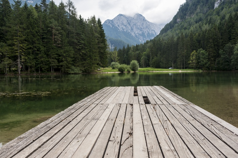 jezersko lake pontoon