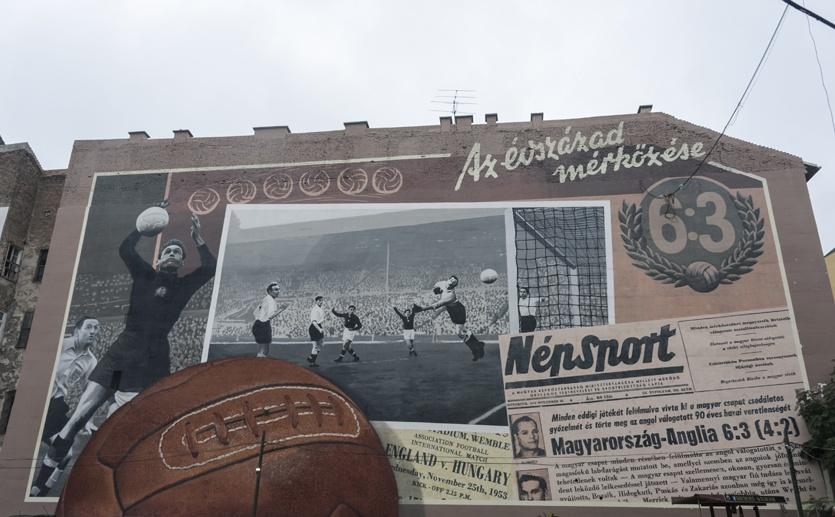 budapest hungary football street art
