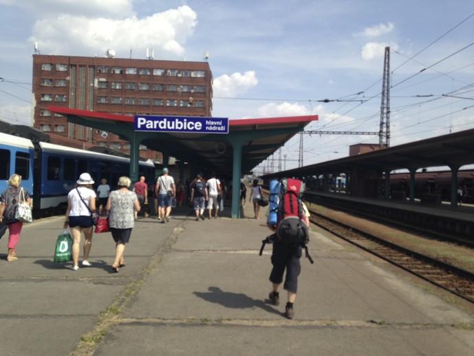 pardubice station platform czech