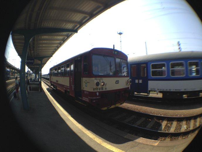 interrail ticket small czech train diesel
