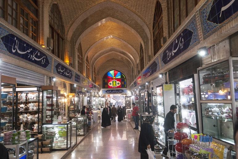 grand bazaar inside tehran
