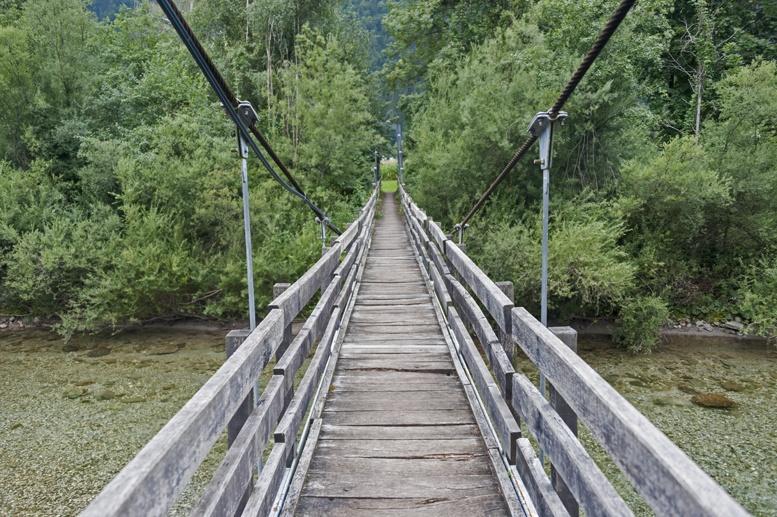 ljubno slovenia bridge over savinij