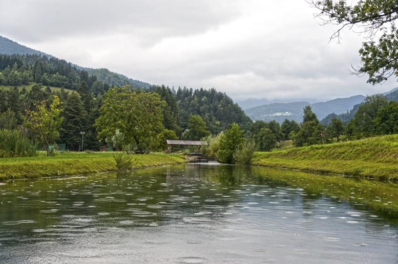 ljubno slovenia rainy lake
