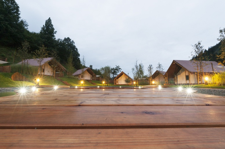 charming glamping in slovenia night