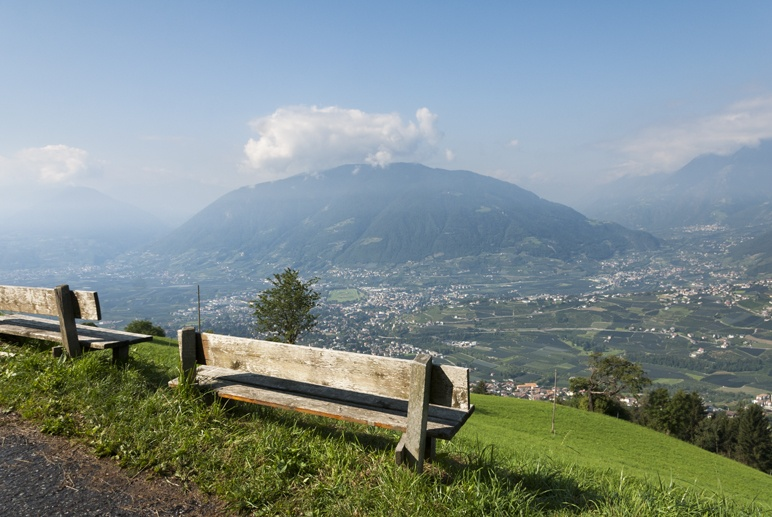 view over merano south tyrol