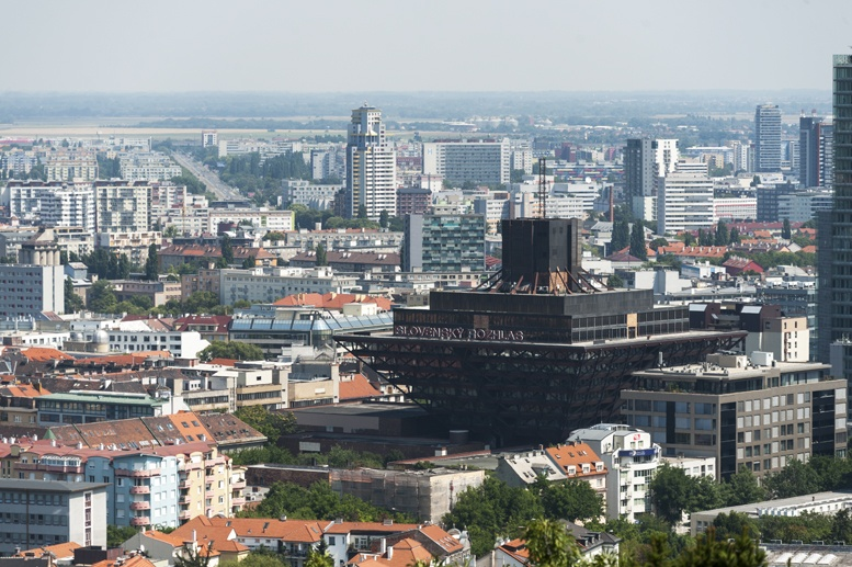 slovak radio building from slavin