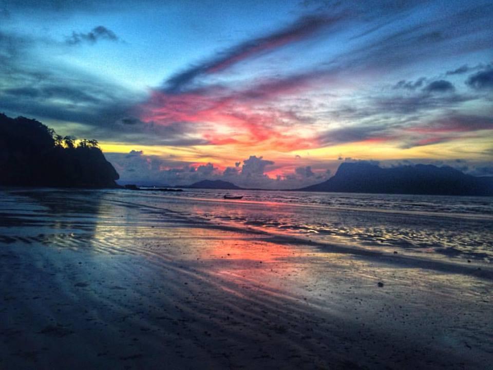 sunset bako sarawak
