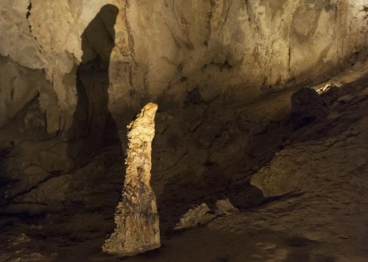 girl shaped stalagmite